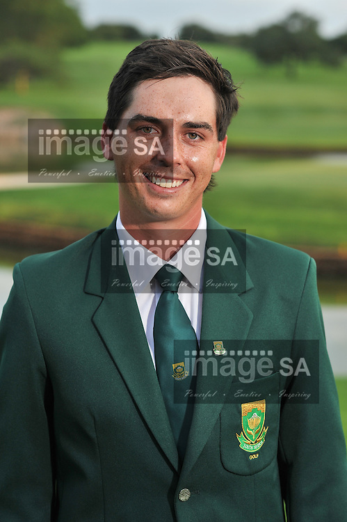 MALELANE, SOUTH AFRICA - Tuesday 17 February 2015, Hendrikus Stoop during the official flag raising ceremony of the annual Leopard Trophy, a two day test between teams of the South African Golf Association and the Scottish Golf Union, at the Leopard Creek Golf Estate.<br /> Photo Roger Sedres/ Image SA