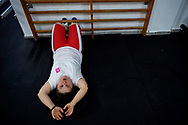 Bydgoszcz, Poland - 2018 October 08: Special Olympics Poland Preparation Camp before the Special Olympics World Games Abu Dhabi 2019 at Zawisza Stadium on October 08, 2018 in Bydgoszcz, Poland.<br /> <br /> Adam Nurkiewicz declares that he has no rights to the image of people at the photographs of his authorship.<br /> <br /> Picture also available in RAW (NEF) or TIFF format on special request.<br /> <br /> Any editorial, commercial or promotional use requires written permission from the author of image.<br /> <br /> Image can be used in the press when the method of use and the signature does not hurt people on the picture.<br /> <br /> Mandatory credit:<br /> Photo by © Adam Nurkiewicz