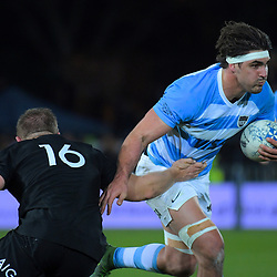 Pablo Matera in action during the Rugby Championship match between the New Zealand All Blacks and Argentina Pumas at Trafalgar Park in Nelson, New Zealand on Saturday, 8 September 2018. Photo: Dave Lintott / lintottphoto.co.nz