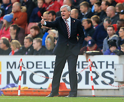 Stoke City manager Mark Hughes - Mandatory by-line: Paul Roberts/JMP - 04/11/2017 - FOOTBALL - Bet365 Stadium - Stoke-on-Trent, England - Stoke City v Leicester City - Premier League