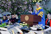 University of Rochester President Joel Seligman speaks at UR's 164th Commencement Ceremony on Sunday, May 18, 2014.