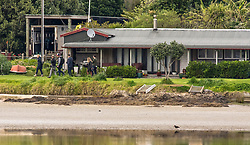 """Reporters and photographers leave the Family home of New Zealand First Leader Winston Peters at Whananaki, Northland, New Zealand. Monday September 25, 2017.  Credit: SNPA / Malcolm Pullman """"NO ARCHIVING"""""""
