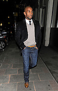 17.JANUARY.2012 LONDON<br /> <br /> JERMAIN DEFOE LEAVING THE MAYFAIR HOTEL IN CENTRAL LONDON AFTER ATTENDING A CHARITY AUCTION.<br /> <br /> BYLINE: EDBIMAGEARCHIVE.COM<br /> <br /> *THIS IMAGE IS STRICTLY FOR UK NEWSPAPERS AND MAGAZINES ONLY*<br /> *FOR WORLD WIDE SALES AND WEB USE PLEASE CONTACT EDBIMAGEARCHIVE - 0208 954 5968*