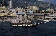 Classic week,The  -  Recouvrance -  copy of Surcouf ship.    Monaco        Classic week, La Recouvrance copie du voilier de Surcouf    Monaco   R00286/3    L4102  /  R00286  /  P0007568