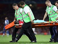 Photo: Chris Ratcliffe.<br /> Arsenal v FC Porto. UEFA Champions League, Group G. 26/09/2006.<br /> Emmanuel Eboue of Arsenal goes off for treatment.