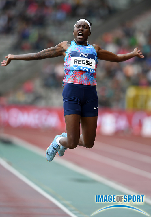 Brittney Reese (USA) places fifth in the women's long jump at 21-8¼ (6.61m) during the 42nd Memorial Van Damme in an IAAF Diamond League meet at King Baudouin Stadium in Brussels, Belgium on Friday, September 1, 2017. (Jiro Mochizuki/Image of Sport)