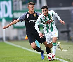 28.10.2018, Allianz Stadion, Wien, AUT, 1. FBL, SK Rapid Wien vs FC Flyeralarm Admira, 12. Runde, im Bild Wilhelm Vorsager (FC Flyeralarm Admira) und Andrei Virgil Ivan (SK Rapid Wien) // during Austrian Football Bundesliga Match, 12th Round, between SK Rapid Vienna and FC Flyeralarm Admira at the Allianz Arena, Vienna, Austria on 2018/10/28. EXPA Pictures © 2018, PhotoCredit: EXPA/ Thomas Haumer