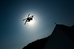February 18, 2018 - Pyeongchang, South Korea - EVAN MCEACHRAN of Canada competes in the Mens Ski Slopestyle competition Sunday, February 18, 2018 at Phoenix Snow Park at the Pyeongchang Winter Olympic Games.  Photo by Mark Reis, ZUMA Press/The Gazette (Credit Image: © Mark Reis via ZUMA Wire)