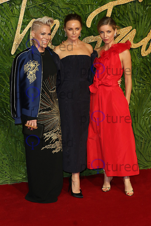 Pink, Stella McCartney, Annabelle Wallis, The Fashion Awards 2017, The Royal Albert Hall, London UK, 04 December 2017, Photo by Richard Goldschmidt