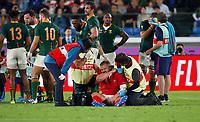 Rugby Union - 2019 Rugby World Cup - Semi-Final: Wales vs. South Africa<br /> <br /> Tom Francis of Wales injury at International Stadium Yokohama, Kanagawa Prefecture, Yokohama City.<br /> <br /> COLORSPORT/LYNNE CAMERON