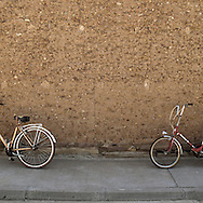 Bicycles in Maire de Castroponce, Zamora province, Spain . The WAY OF SAINT JAMES or CAMINO DE SANTIAGO following the Silver Way, between Seville and Astorga, SPAIN. Tradition says that the body and head of St. James, after his execution circa. 44 AD, was taken by boat from Jerusalem to Santiago de Compostela. The Cathedral built to keep the remains has long been regarded as important as Rome and Jerusalem in terms of Christian religious significance, a site worthy to be a pilgrimage destination for over a thousand years. In addition to people undertaking a religious pilgrimage, there are many travellers and hikers who nowadays walk the route for non-religious reasons: travel, sport, or simply the challenge of weeks of walking in a foreign land. In Spain there are many different paths to reach Santiago. The three main ones are the French, the Silver and the Coastal or Northern Way. The pilgrimage was named one of UNESCO's World Heritage Sites in 1993. When there is a Holy Compostellan Year (whenever July 25 falls on a Sunday; the next will be 2010) the Galician government's Xacobeo tourism campaign is unleashed once more. Last Compostellan year was 2004 and the number of pilgrims increased to almost 200.000 people.