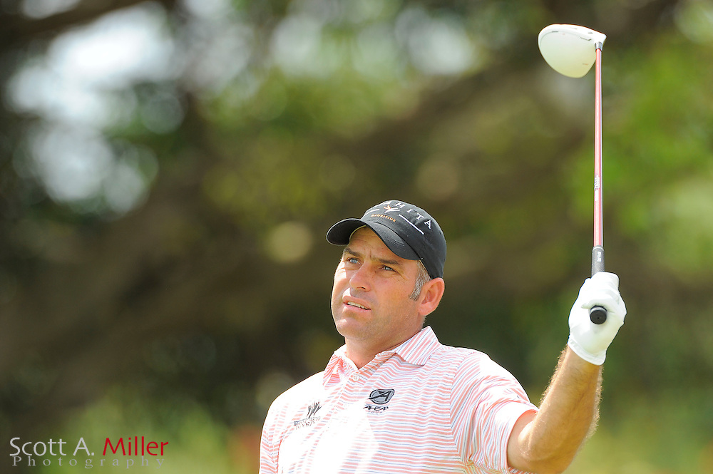 Hennie Otto during the second round of the World Golf Championship Cadillac Championship on the TPC Blue Monster Course at Doral Golf Resort And Spa on March 9, 2012 in Doral, Fla. ..©2012 Scott A. Miller.