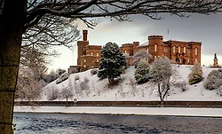 Inverness Castle in winter with a dusting of snow<br /> <br /> (c) Andrew Wilson | Edinburgh Elite media