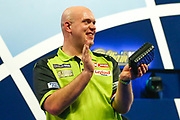 Michael van Gerwen celebrates his quarter final win during the World Darts Championships 2018 at Alexandra Palace, London, United Kingdom on 29 December 2018.