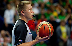 Referee Damir Javor during basketball game between National basketball teams of Serbia and Turkey at FIBA Europe Eurobasket Lithuania 2011, on September 11, 2011, in Siemens Arena,  Vilnius, Lithuania. Serbia defeated Turkey 68-67. (Photo by Vid Ponikvar / Sportida)