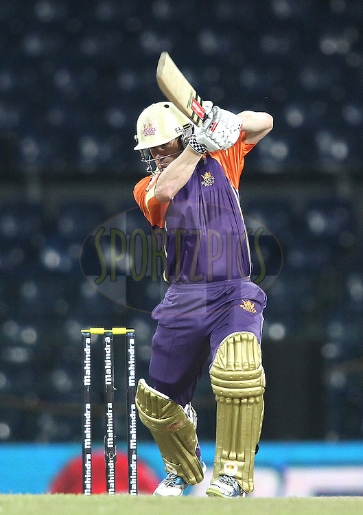 Daniel Harris of Ruhuna Royals drives a delivery through to the boundary during match 20 of the Sri Lankan Premier League between Ruhuna Royals and Wayamba United held at the Premadasa Stadium in Colombo, Sri Lanka on the 26th August 2012. .Photo by Shaun Roy/SPORTZPICS/SLPL