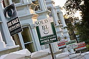 For Sale and Sold signs, West Hampstead, London, United Kingdom