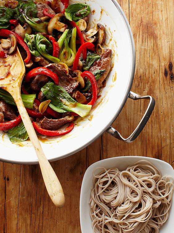 Garlic Pork Stir Fry with Noodles
