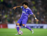 SEVILLE, SPAIN - OCTOBER 15:  Marcelo of Real Madrid CF in action during the match between Real Betis Balompie and Real Madrid CF as part of La Liga at Benito Villamrin stadium October 15, 2016 in Seville, Spain.  (Photo by Aitor Alcalde/Getty Images)