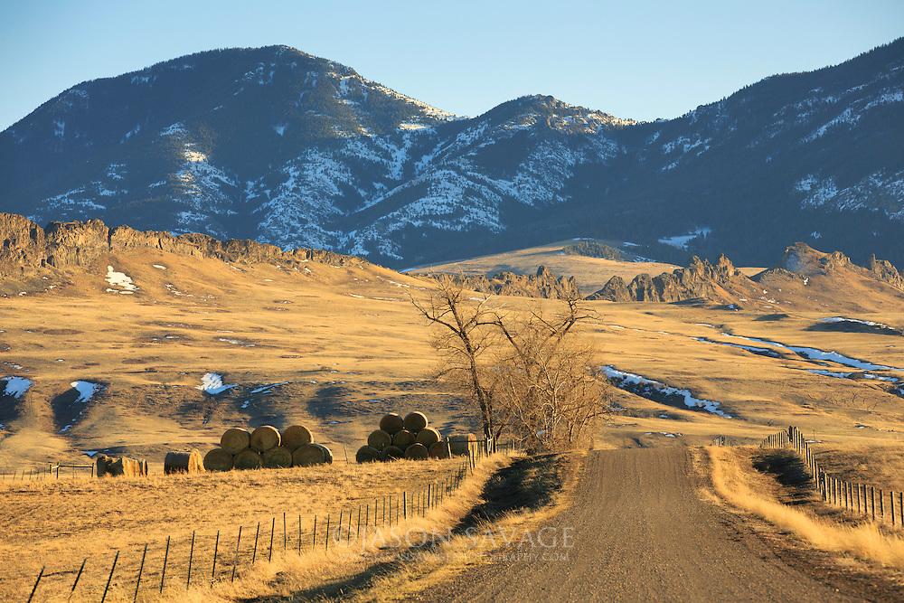 Montana backroad near Cascade, Montana.