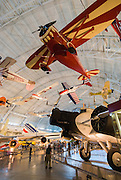 Interior view of the National Air and Space Museum, Steven F. Udvar-Hazy Center, Chantilly, Virginia