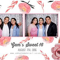 Gem's Sweet 16 Photobooth