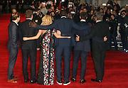 October 28, 2015 - Actors Daniel Bruhl, Bradley Cooper, Sienna Miller, Omar Sy, Sam Keeley and director John Wells attending 'Burnt' European Premiere at Vue West End, Leicester Square in London, UK.<br /> ©Exclusivepix Media