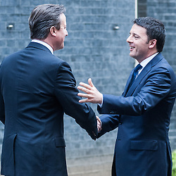 Official visit of Prime Minister, Matteo Renzi, at Downing Street.<br /> In the photo:  David Cameron(L), Matteo Renzi(R)