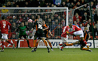 Photo: Richard Lane/Richard Lane Photography. Nottingham Forest v Blackpool. Coca Cola Championship. 13/12/2008. Rob Earnshaw (2nd R) blazes over