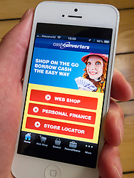 detail of iPhone 5 with Cash Converters loan app
