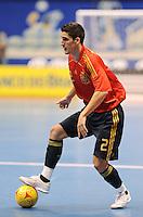 Fussball  International  FIFA  FUTSAL WM 2008   01.10.2008 Vorrunde Gruppe D Spain - Iran Spanien- Iran ORTIZ (ESP) am Ball.