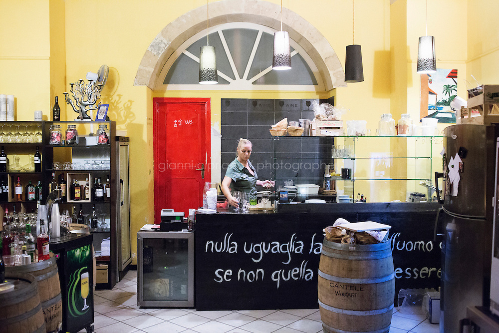 LECCE, ITALY - 30 July 2013: Interior of the Shui bar in Via Umberto I in Lecce, Italy, on July 30th 2013.