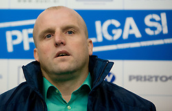 Coach of Olimpija Robert Pevnik at 18th Round of PrvaLiga football match between NK Olimpija and NK Labod Drava, on November 21, 2009, in ZAK, Ljubljana, Slovenia. Olimpija defeated Drava 3:0. (Photo by Vid Ponikvar / Sportida)