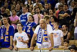 Supporters of Rogaska during basketball match between KK Union Olimpija and KK Rogaska in 4th Final game of Liga Nova KBM za prvaka 2016/17, on May 24, 2017 in Hala Tivoli, Ljubljana, Slovenia. Photo by Vid Ponikvar / Sportida