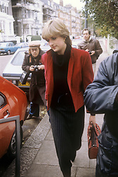 LADY DIANA SPENCER 1980: Lady Diana Spencer, 19, the youngest daughter of Earl Spencer, being pursued by the Press near her Knightsbridge home after speculation that she is romantically involved with the Prince of Wales.