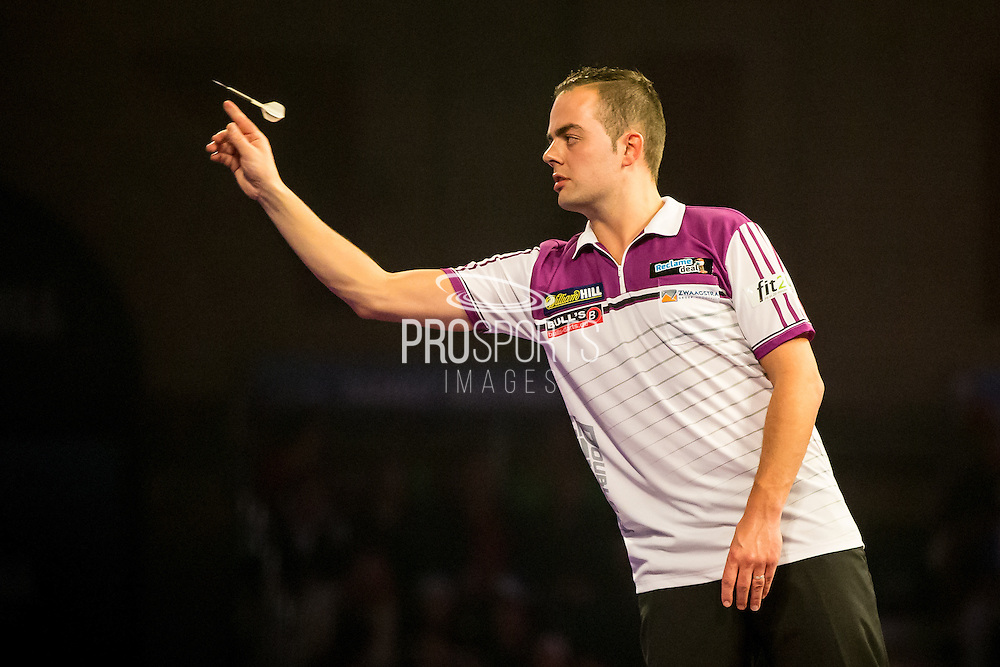 Jan Dekker during the World Darts Championship at Alexandra Palace, London, United Kingdom on 23 December 2015. Photo by Shane Healey.