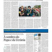 "Tearsheet of ""Donetsk prepares for secession"" published in Expresso"