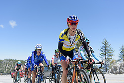 Megan Guarnier has the leaders in her sights but can't bridge the gap at Amgen Breakaway from Heart Disease Women's Race empowered with SRAM (Tour of California) - Stage 2. A 108km road race in South Lake Tahoe, USA on 12th May 2017.