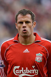 Liverpool, England - Sunday, October 7, 2007: Liverpool's Jamie Carragher before the Premiership match against Tottenham Hotspur at Anfield. (Photo by David Rawcliffe/Propaganda)