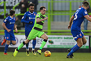 Forest Green Rovers Theo Archibald(18) runs forward during the EFL Sky Bet League 2 match between Forest Green Rovers and Morecambe at the New Lawn, Forest Green, United Kingdom on 17 November 2018.