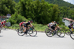 Alice Barnes (GBR) descends at Giro Rosa 2018 - Stage 9, a 104.7 km road race from Tricesimo to Monte Zoncolan, Italy on July 14, 2018. Photo by Sean Robinson/velofocus.com