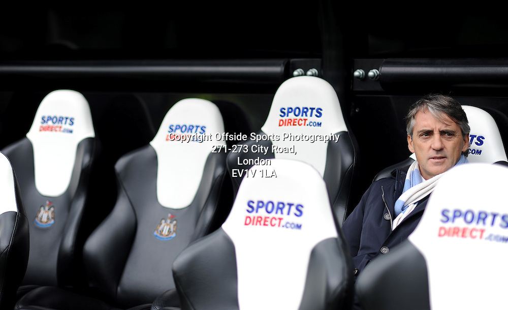 06/05/2012 - Barclays Premier League Football - 2011-2012 - Newcastle United v Manchester City - Man City Roberto Mancini. - Photo: Charlie Crowhurst / Offside.