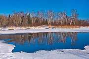 Reflection of the Whiteshell River at Rainbow Falls<br />