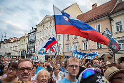Fans during reception of slovenian rider Primoz Roglic after Tour de France 2018 on August 6, 2018 in Ljubljana, Slovenia. Photo by Urban Meglic / Sportida