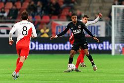 23-11-2019 NED: FC Utrecht - AZ Alkmaar, Utrecht<br /> Round 14 / Myron Boadu #9 of AZ Alkmaar, Justin Hoogma #3 of FC Utrecht