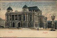 Zagreb : Kazalište. <br /> <br /> ImpresumDresden u. Berlin : Stengel & Co., [1901].<br /> Materijalni opis1 razglednica : tisak ; 9 x 13,8 cm.<br /> NakladnikStengel & Co.<br /> Vrstavizualna građa • razglednice<br /> ZbirkaGrafička zbirka NSK • Zbirka razglednica<br /> ProjektPozdrav iz Zagreba • Pozdrav iz Hrvatske<br /> Formatimage/jpeg<br /> PredmetZagreb –– Trg Republike Hrvatske<br /> Hrvatsko narodno kazalište (Zagreb)<br /> SignaturaRZG-TMT-22<br /> Obuhvat(vremenski)20. stoljeće<br /> NapomenaRazglednica je putovala 1901. godine. • Poleđina razglednice namijenjena je samo za adresu.<br /> PravaJavno dobro<br /> Identifikatori000953155<br /> NBN.HRNBN: urn:nbn:hr:238:208745 <br /> <br /> Izvor: Digitalne zbirke Nacionalne i sveučilišne knjižnice u Zagrebu