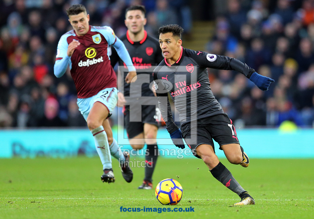 Alexis Sanchez of Arsenal during the Premier League match at Turf Moor, Burnley<br /> Picture by Simon Moore/Focus Images Ltd 07807 671782<br /> 26/11/2017