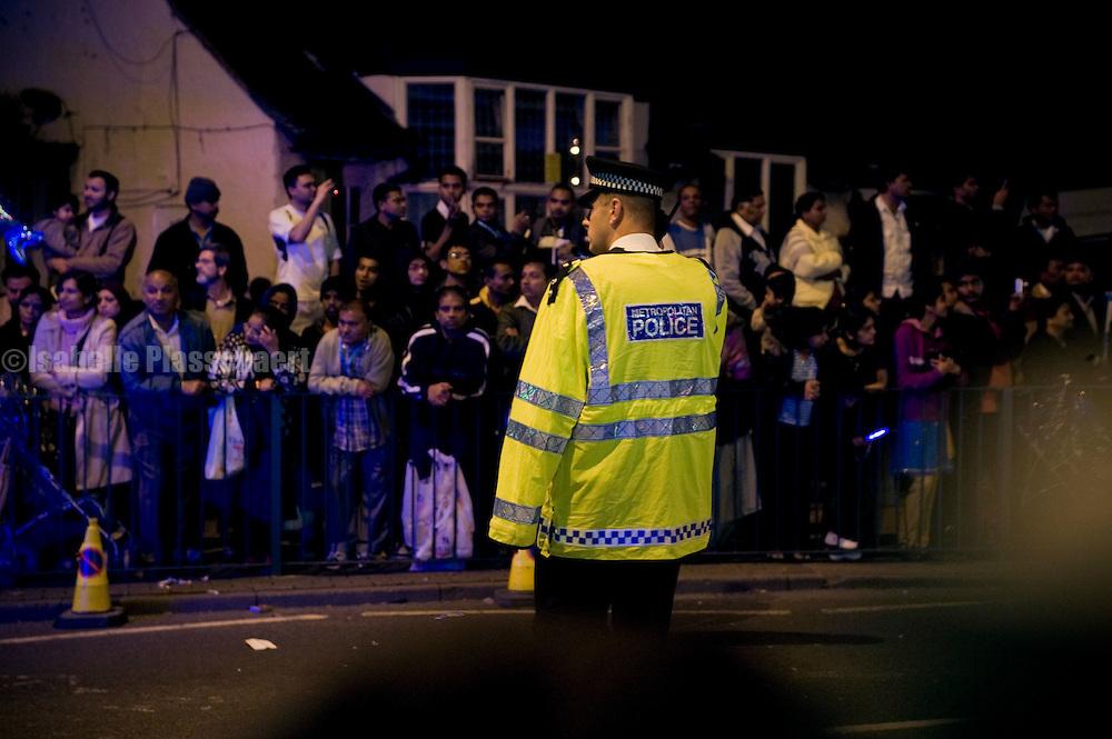 Diwali, Indian festival of light, celebrations in Alperton, Wembley 2009