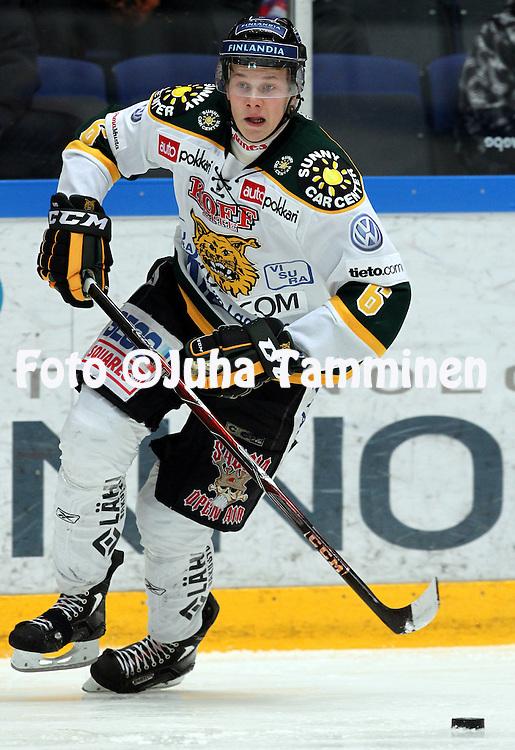 13.1.2010, H?meenlinna..J??kiekon SM-liiga 2010-11. .HPK - Ilvess..Jyrki Jokipakka - Ilves.©Juha Tamminen.