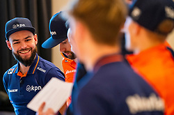 Sjinkie Knegt during the press conference for ISU World Cup Finals Shorttrack 2020 on February 12, 2020 in Museum Dordrecht.